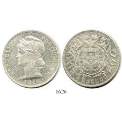 Portugal (Republic), 1 escudo, 1916.