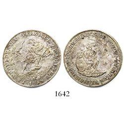 Potosi, Bolivia, 2R-sized silver medal, 1852, Belzu, ex-Derman.