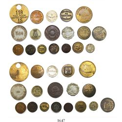Large lot of 18 tokens from Cuba, various metals, 1800s to early 1900s, some rare.
