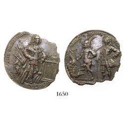"Great Britain, copper ""Admiral Vernon"" medal, Duke of Argyle (ca. 1739)."