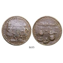 Great Britain, copper  Admiral Vernon  medal, Cartagena, 1741.