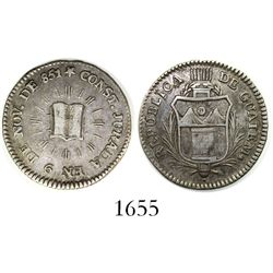 Guatemala, small silver medal, 1851, Constitution.