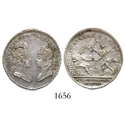 Hungary (Holy Roman Empire), silver medal, 1751, mines.
