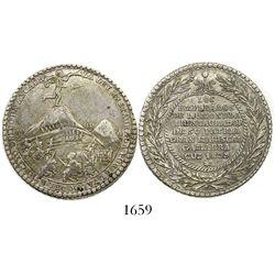 Cuzco (Ancachs), Peru, silver 4R-sized medal, 1839, Battle of Yungay, ex-Derman.