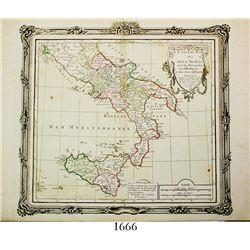 "Small, French map of Italy (Kingdom of Two Sicilies) entitled ""ETATS DU ROI DES DEUX SICILES, avec l"