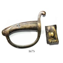 French brass sword handle and part of hanger.