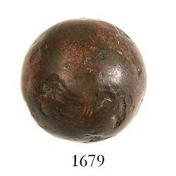Very small bronze cannonball, probably Spanish, ca. 1550-1650, rare.