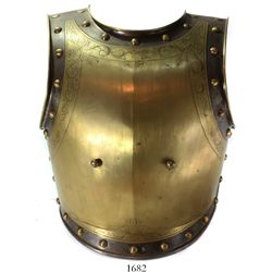 Spanish or French mounted officer's armor breastplate, 1800s.
