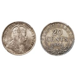 ONE OF THE TWO 'FINEST' KNOWN GEM 1904-H TWENTY CENTS PIECES.