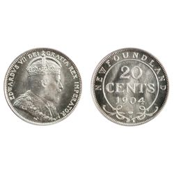 A GEM SPECIMEN-66 1904-H TWENTY CENTS.
