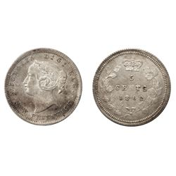 "A RARE 1862, SMALL 6, CHOICE MINT STATE-64 FIVE CENTS PIECE""."