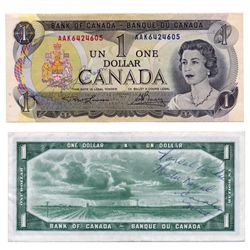 AUTOGRAPHED BANK NOTES.