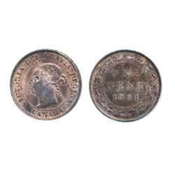 1891, Small Date, Small Leaves. Obverse port. #3.
