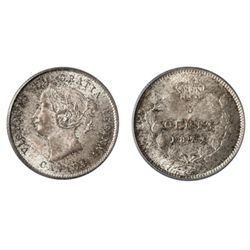A GEM 1872-H FIVE CENTS SILVER.
