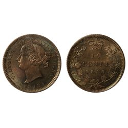 A NEAR GEM 1880-H TEN CENTS.
