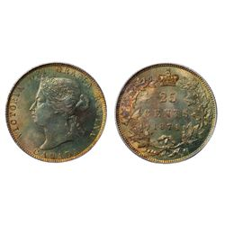 A GEM MINT STATE-66 1874-H TWENTY-FIVE CENTS.