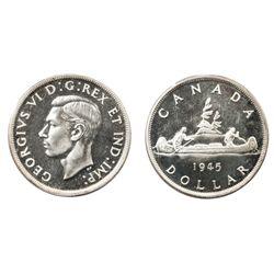 A RARE GEM 1945 SPECIMEN DOLLAR.