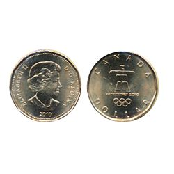 2010. $1.00 Olympic Logo.