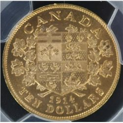 1914 $10 Canada MS63