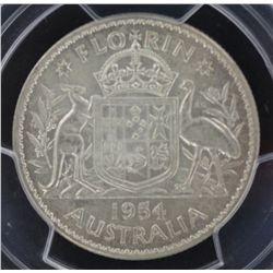 1954 Florin MS62