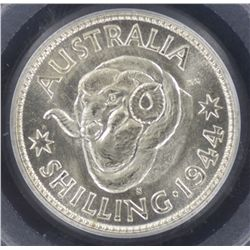 1944S Shilling MS65