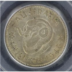 1946P Shilling MS63