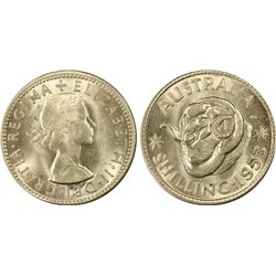 1953 Shilling MS64