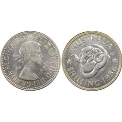1956 Shilling MS63