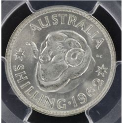 1962 Shilling MS66