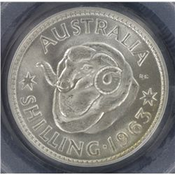 1963 Shilling MS66