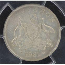 1921 Sixpence MS63