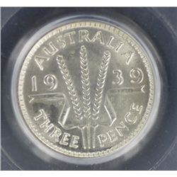 1939 Threepence MS64