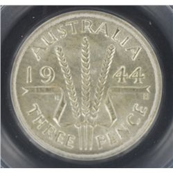 1944S Threepence MS65