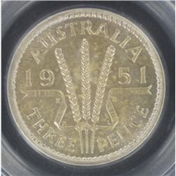 1951PL Threepence MS65