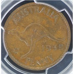 1939 Penny MS62 Brown