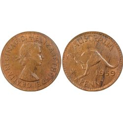 1959 Penny MS63 Brown
