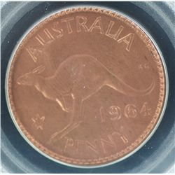 1964 Penny MS65 Red