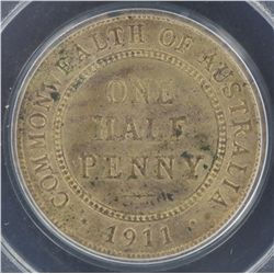 1911 ½ Penny MS63RB