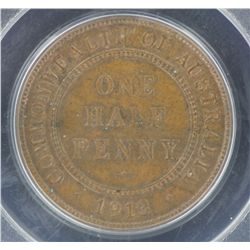 1913 ½ Penny MS64 Brown