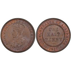 1917 ½ Penny MS63 Brown