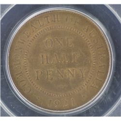 1921 ½ Penny MS64 RB