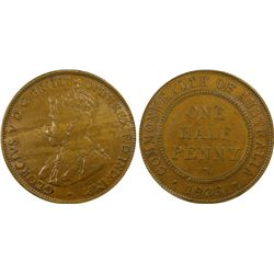 1923 ½ Penny XF40
