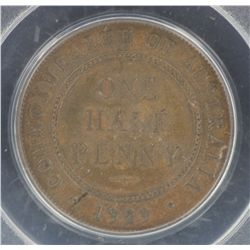 1929 ½ Penny MS63 Brown