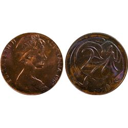1967 2 Cent MS64 RB NO SD