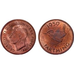 Great Britain 1950 Farthing PR64RB