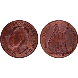 Great Britain 1950 Penny PR64 RB