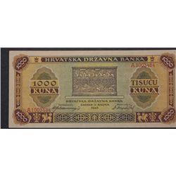 Croatia 1943 1000 Kuna