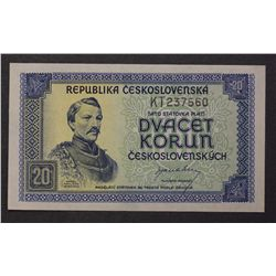 Czechoslovakia 1945 20 Korun