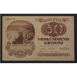 Estonia 1929 50 Krooni