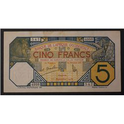 French West Africa 1932 5 Francs